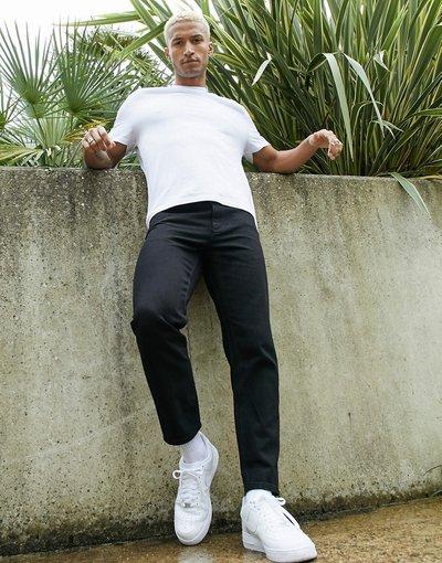 Jeans Nero uomo Jeans rigidi classici neri - ASOS DESIGN - Nero