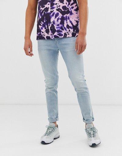 Jeans Blu uomo Jeans skinny blu lavaggio chiaro - ASOS DESIGN