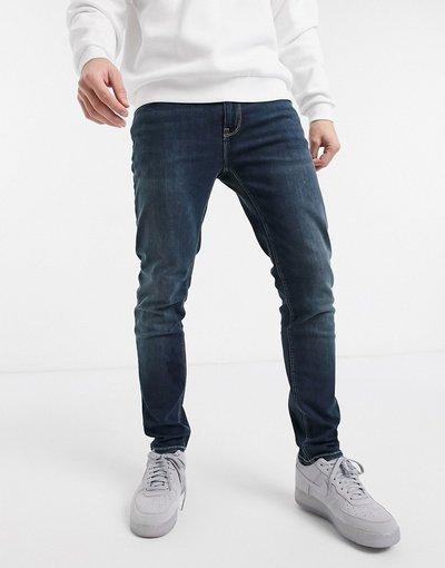 Jeans Blu uomo Jeans skinny lavaggio scuro - ASOS DESIGN - Blu