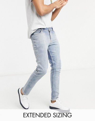Jeans Blu uomo Jeans skinny vintage lavaggio blu chiaro - ASOS DESIGN