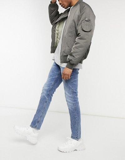 Jeans Blu uomo Jeans slim elasticizzati vintage lavaggio blu medio - ASOS DESIGN