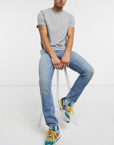 Jeans Blu uomo Jeans slim lavaggio blu chiaro sporco vintage - ASOS DESIGN