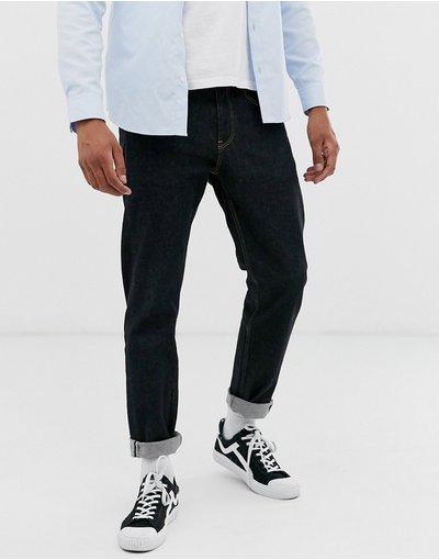 Jeans Nero uomo Jeans stretch affusolati nero piatto - ASOS DESIGN