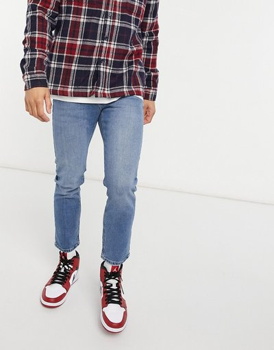 Jeans Blu uomo Jeans stretch slim lavaggio blu medio - ASOS DESIGN