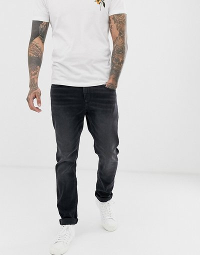 Jeans Nero uomo Jeans stretch slim nero slavato - ASOS DESIGN