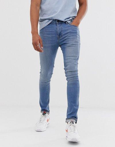 Jeans Blu uomo Jeans super skinny lavaggio chiaro - ASOS DESIGN - Blu