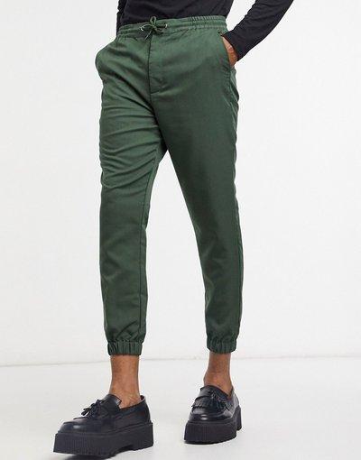 Verde uomo Joggers affusolati eleganti verdi - ASOS DESIGN - Verde