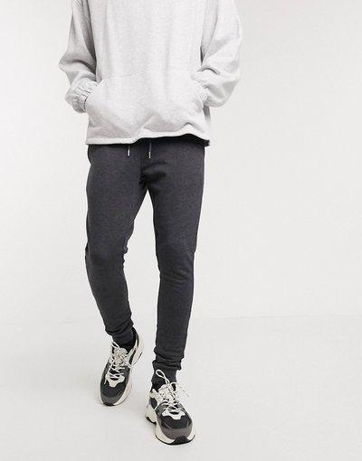 Pantalone Grigio uomo Joggers super skinny in tessuto organico antracite - ASOS DESIGN - Grigio