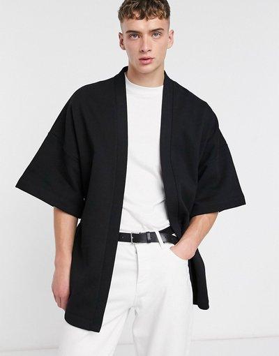 Novita Nero uomo Kimono in jersey con cintura - ASOS DESIGN - Nero