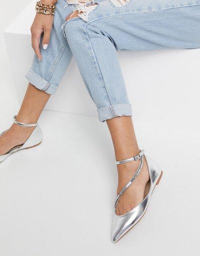 Scarpa bassa Argento donna Ballerine a punta argento - ASOS DESIGN - Leap