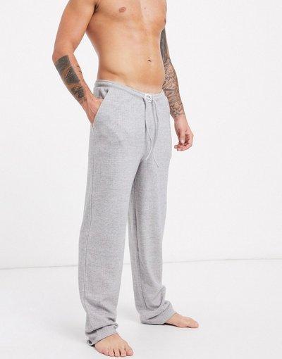 Pigiami Grigio uomo Pantaloni del pigiama in cotone spazzolato - ASOS DESIGN Lounge - Grigio