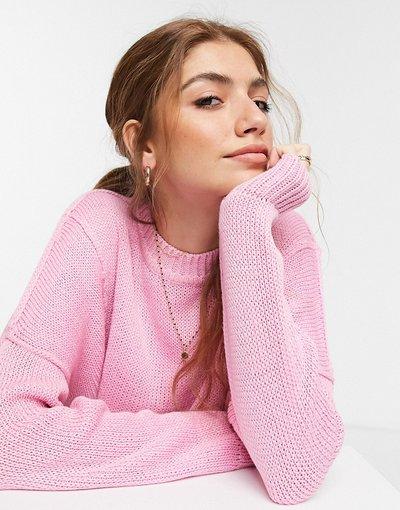 Rosa donna Maglione squadrato girocollo rosa - ASOS DESIGN