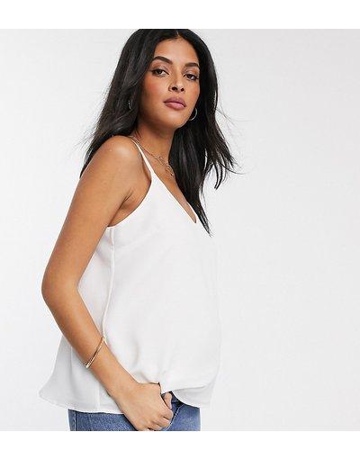 Maternita Bianco donna Canotta svasata a doppio strato con spalline sottili bianca - ASOS DESIGN Maternity - Bianco - Eco