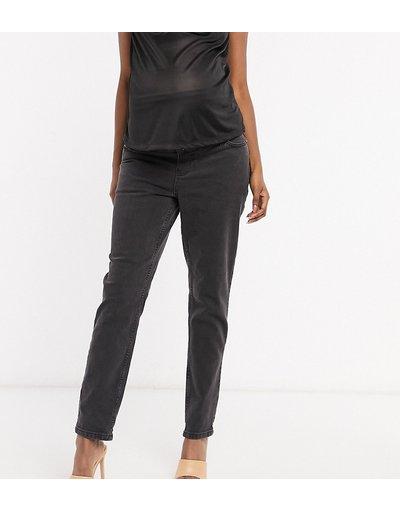 Maternita Nero donna Mom jeans slim a vita alta nero slavato - ASOS DESIGN Maternity - Farleigh