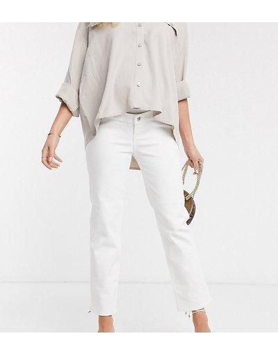 Maternita Bianco donna Jeans dritti vita alta stretch bianco ottico - ASOS DESIGN Maternity