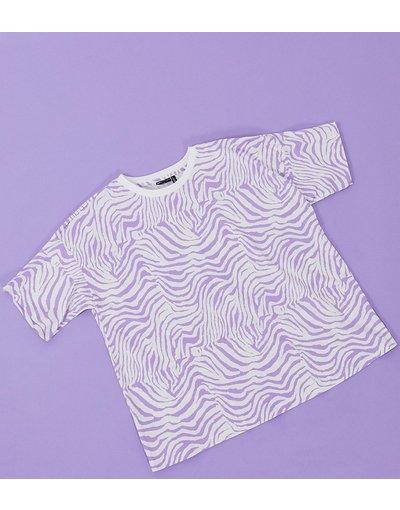 Maternita Viola donna shirt con stampa animalier lilla - ASOS DESIGN Maternity - Viola - T