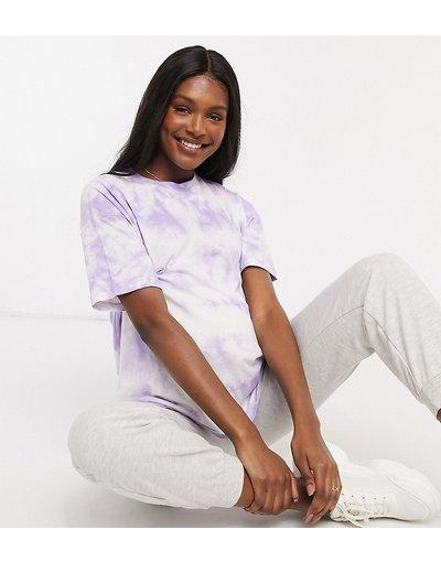 T-shirt Viola donna shirt oversize lilla tie - ASOS DESIGN Maternity - Viola - dye - T