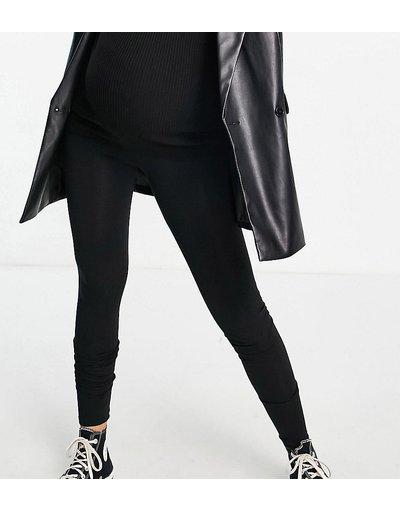 Maternita Nero donna Leggings premium morbidissimi in modal e cotone con fascia per il pancione - ASOS DESIGN Maternity Tall - Nero
