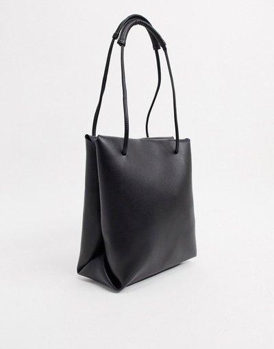 Borsa Nero donna Maxi borsa da spalla nera semplice - ASOS DESIGN - Nero