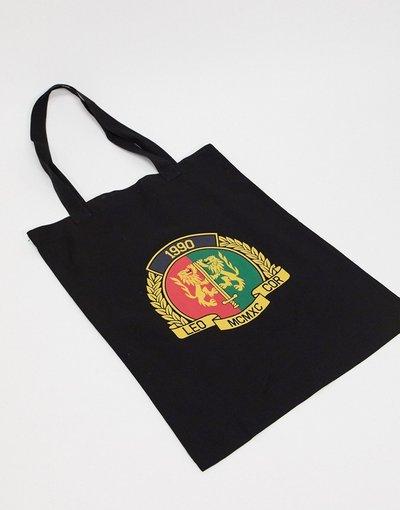 Borsa Nero uomo Maxi borsa pesante nera con stemma heritage stampato - ASOS DESIGN - Nero