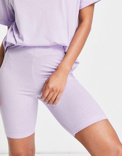 Pigiami Viola donna Pantaloncini leggings del pigiama lilla in jersey - Mix and Match - ASOS DESIGN - Viola