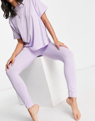 Pigiami Viola donna Leggings del pigiama lilla in jersey - Mix&Match - ASOS DESIGN - Viola