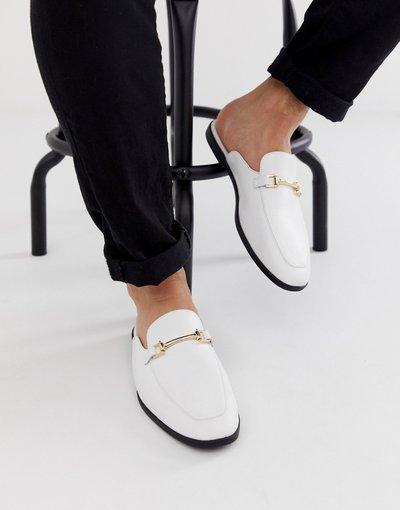 Scarpa elegante Bianco uomo Mocassini aperti dietro in pelle sintetica - ASOS DESIGN - Bianco