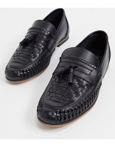 Scarpa elegante Nero uomo Mocassini con nappe in pelle nera - ASOS DESIGN - Nero