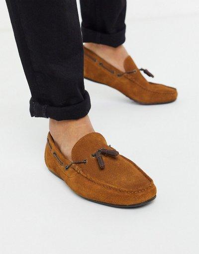 Scarpa elegante Cuoio uomo Mocassini in camoscio cuoio con laccetto - ASOS DESIGN