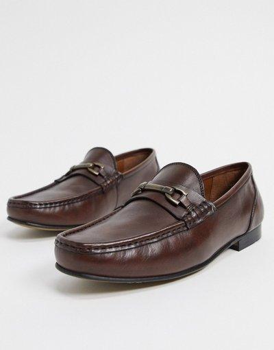Scarpa elegante Marrone uomo Mocassini in pelle marrone - ASOS DESIGN