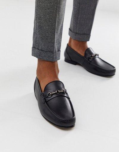 Scarpa elegante Nero uomo Mocassini in pelle nera - ASOS DESIGN - Nero