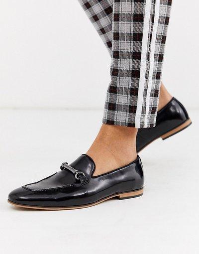 Scarpa elegante Nero uomo Mocassini in pelle sintetica nera con morsetti - ASOS DESIGN - Nero
