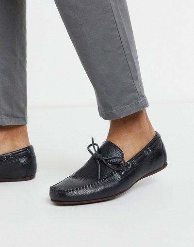 Scarpa elegante Nero uomo Mocassini morbidi in pelle nera - ASOS DESIGN - Nero