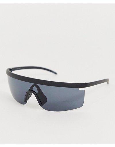 Occhiali Nero uomo Occhiali da sole a mascherina avvolgenti - ASOS DESIGN - Nero