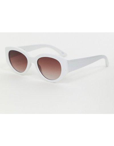 Occhiali Bianco uomo Occhiali da sole bianchi ovali - ASOS DESIGN - Bianco