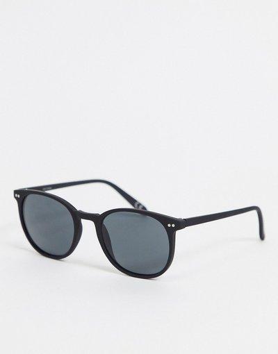 Occhiali Nero uomo Occhiali da sole quadrati in plastica nero opaco con lenti sfumate - ASOS DESIGN