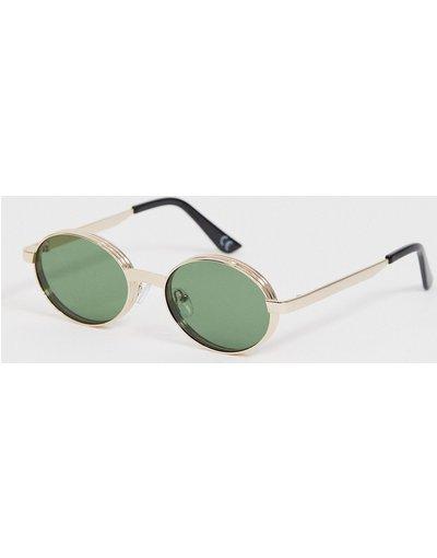 Occhiali Oro uomo Occhiali da sole rotondi in metallo oro con lenti sfumate - ASOS DESIGN