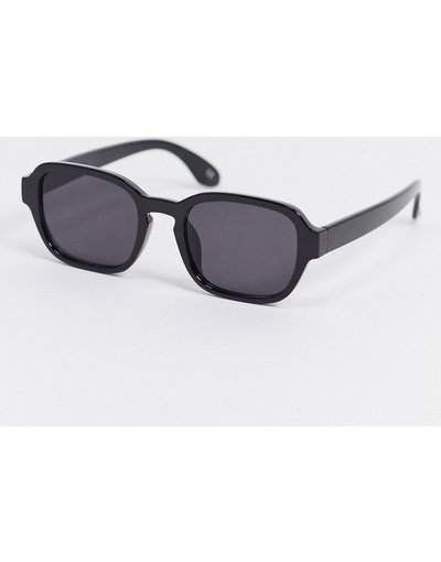 Occhiali Nero uomo Occhiali da sole squadrati neri con lenti sfumate - ASOS DESIGN - Nero