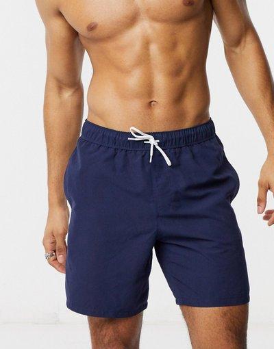 Costume Navy uomo Pantaloncini da bagno blu navy lunghezza media - ASOS DESIGN
