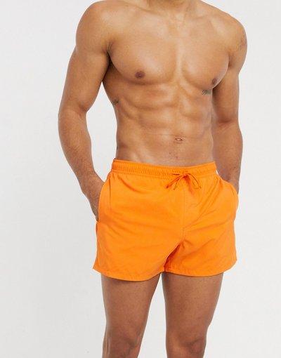 Costume Arancione uomo Pantaloncini da bagno corti arancioni - ASOS DESIGN - Arancione