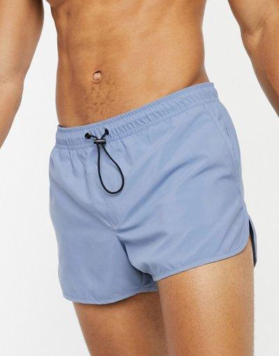 Costume Blu uomo Pantaloncini da bagno in stile running blu slavato - ASOS DESIGN