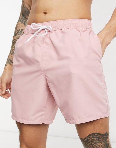 Costume Rosa uomo Pantaloncini da bagno rosa lunghezza media - ASOS DESIGN