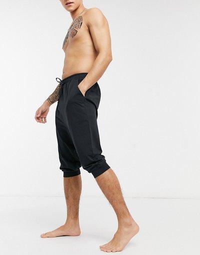 Pigiami Nero uomo Pantaloncini da casa neri con cavallo basso - ASOS DESIGN - Nero