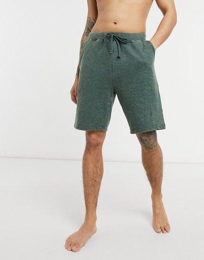 Pigiami Verde uomo Pantaloncini del pigiama verde slavato - ASOS DESIGN