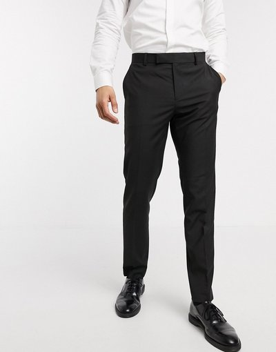 Nero uomo Pantaloncini eleganti slim neri - ASOS DESIGN - Nero