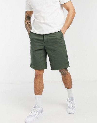 Verde uomo Pantaloncini stile skater comodi kaki - ASOS DESIGN - Verde