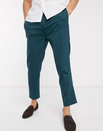 Verde uomo Pantaloni corti e affusolati eleganti verde pino - ASOS DESIGN