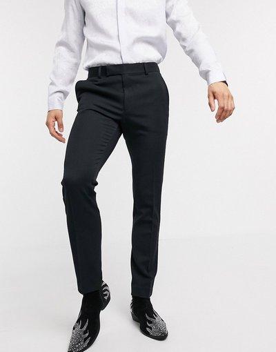 Nero uomo Pantaloni da smoking eleganti skinny neri - ASOS DESIGN - Nero