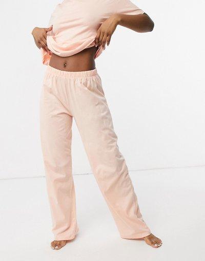 Pigiami Rosa donna Pantaloni del pigiama dritti Mix&Match in jersey pesca - ASOS DESIGN - Rosa