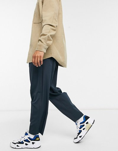 Navy uomo Pantaloni eleganti affusolati oversize blu navy - ASOS DESIGN